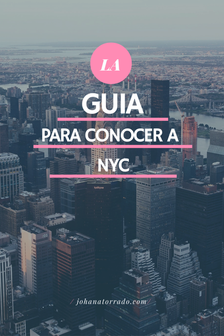 GUIA PARA CONOCER NEW YORK.